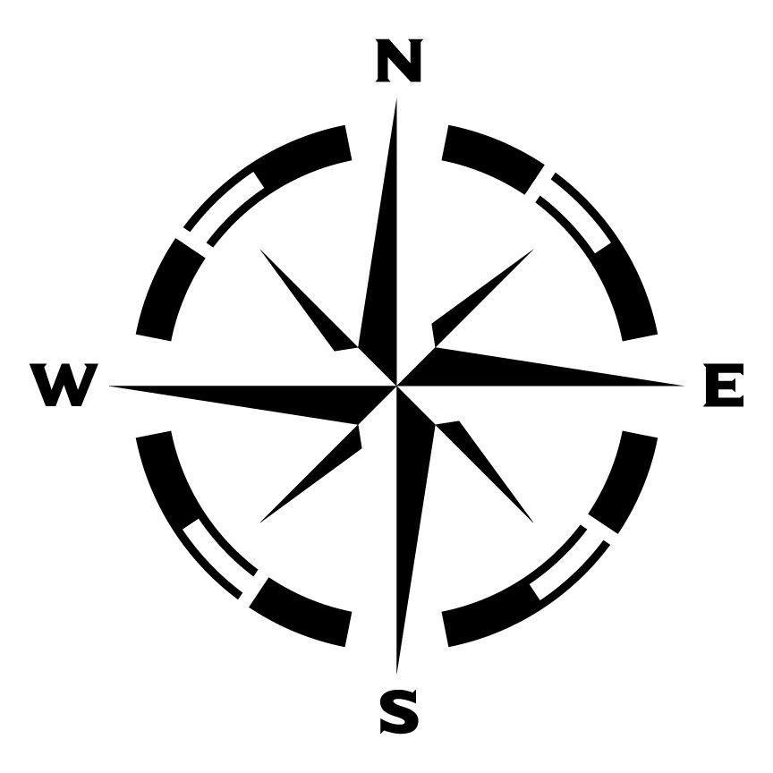 Small Compass Rose Stencil | Vinilos, Gris y Tatuajes
