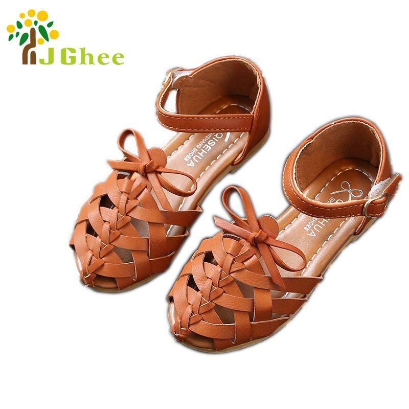Girls Toddler Sandals Kids Summer Beach Shoes Closed Toe Comfort Weave Sandals