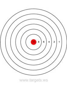 picture relating to Printable Bullseye Target called Ambitions - Print your personal bullseye capturing objectives aims
