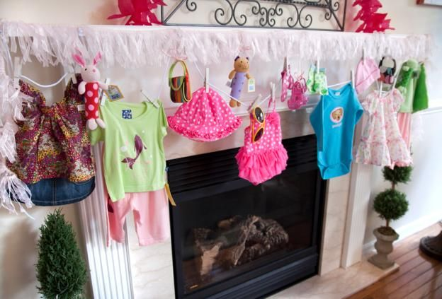 display baby shower gifts and decorate all in once with command, Baby shower