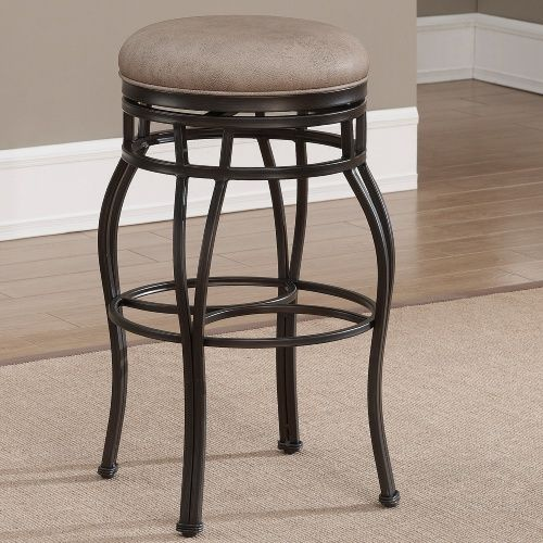 Ahb Bella Backless Counter Stool Aged Sienna Bar Stools At