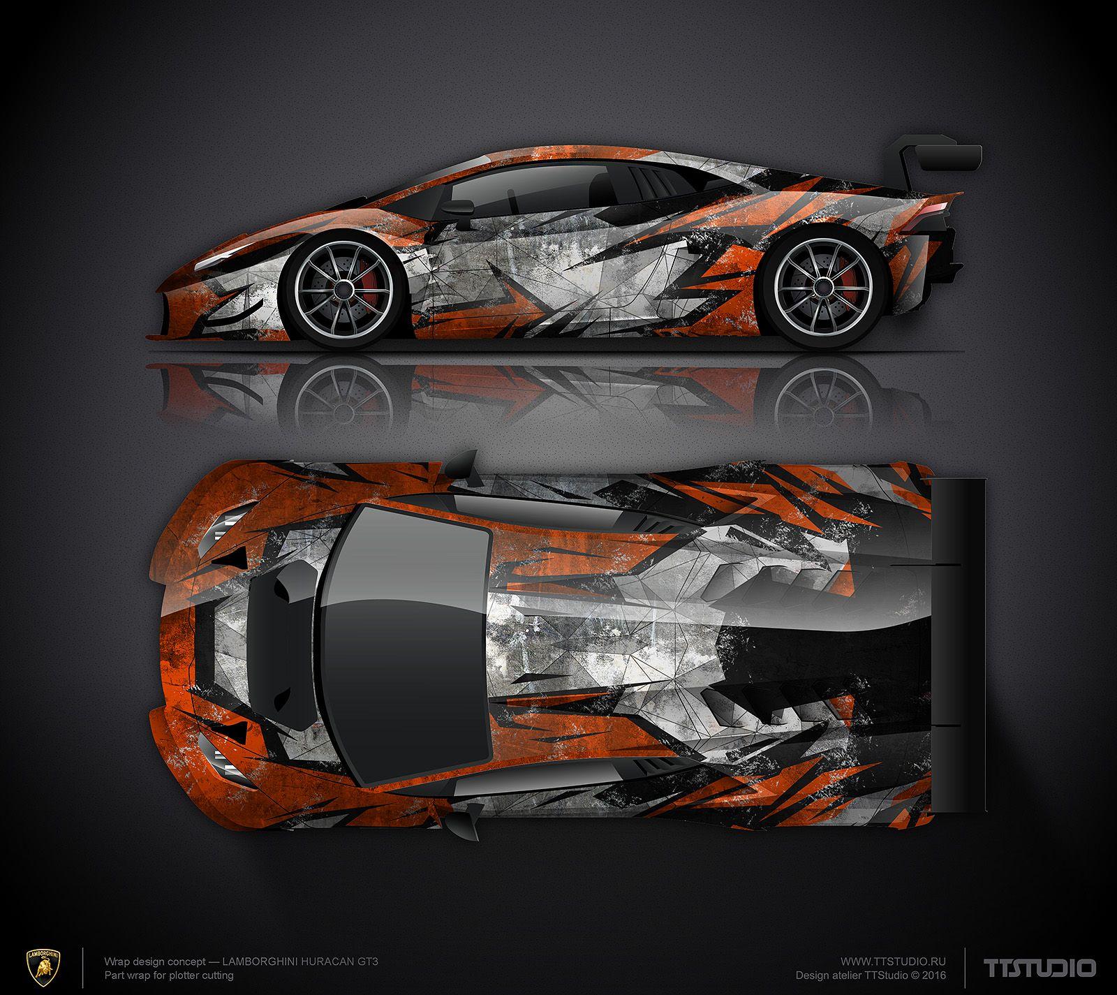 Car body sticker design for sale - Lambo Scratch Livery Design Atelier Ttstudio