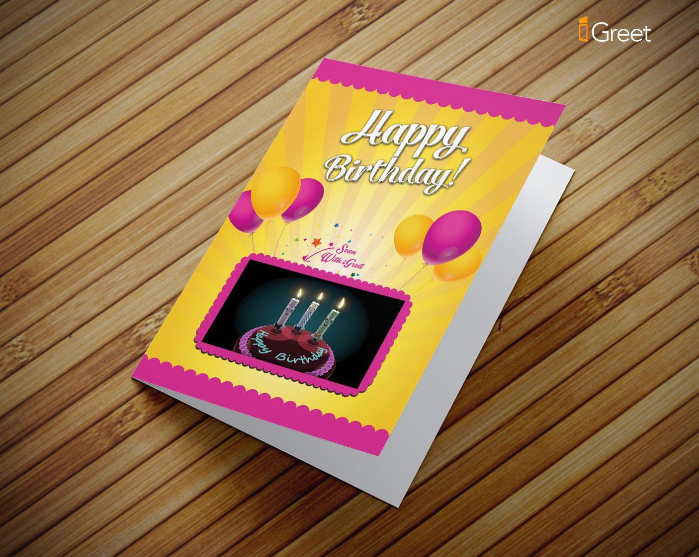Happy birthday singing candles greeting card augmented reality augmented reality happy birthday singing candles greeting card m4hsunfo