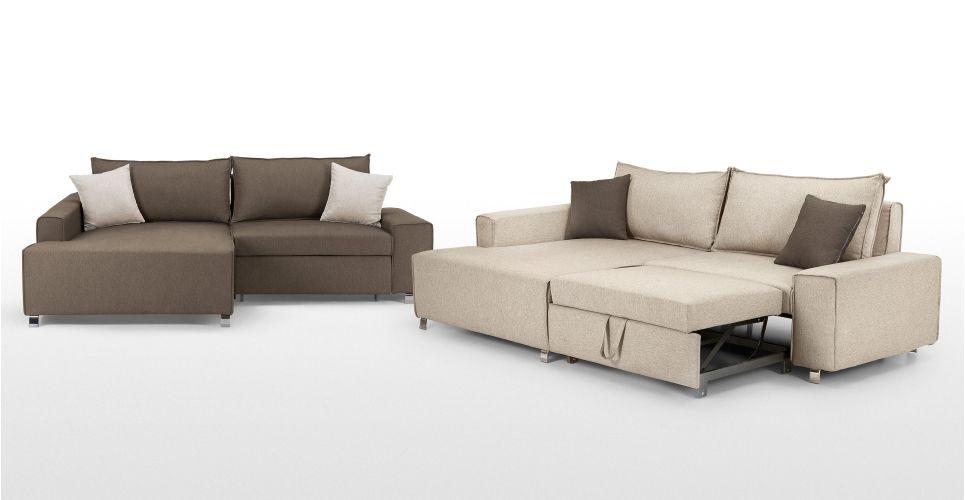 Mayne Left Hand Facing Corner Sofa Bed Pipit Beige Made Com Small Corner Sofa Sofa Bed Dfs Sofa Bed