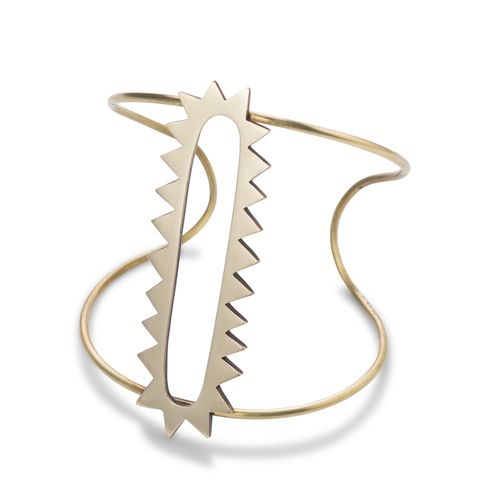 Eye of the Sun brass statement cuff by Kate Taylor Design