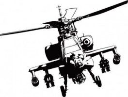 Apache Helicopter Vector Adobe Illustrator Decal Wall Art Sticker Wall Art Sticker Art