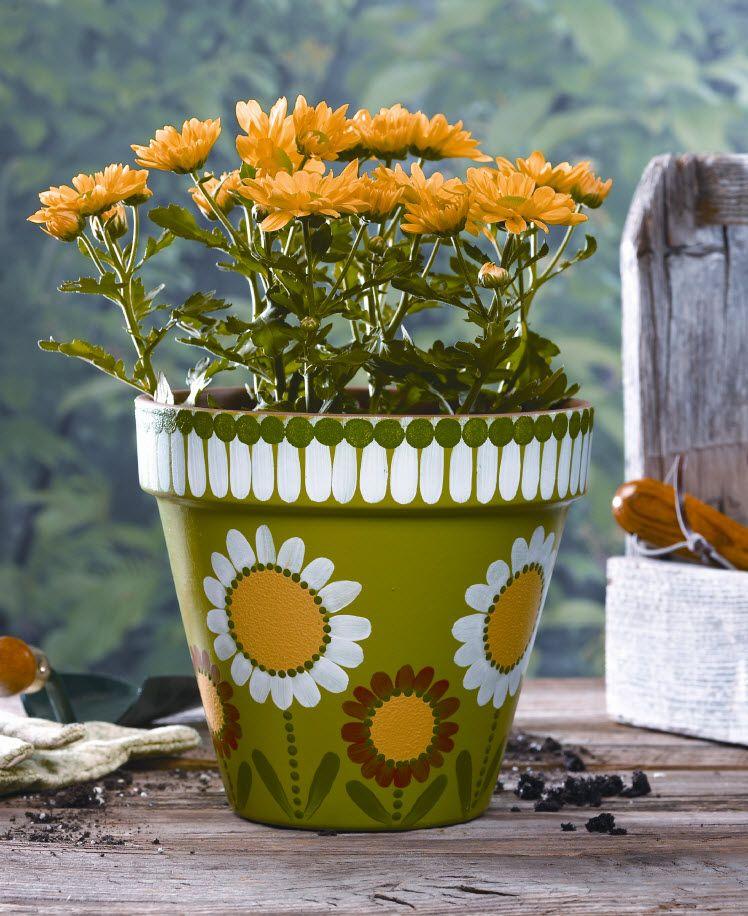 vintage terracotta daiay design planter pot flower pot