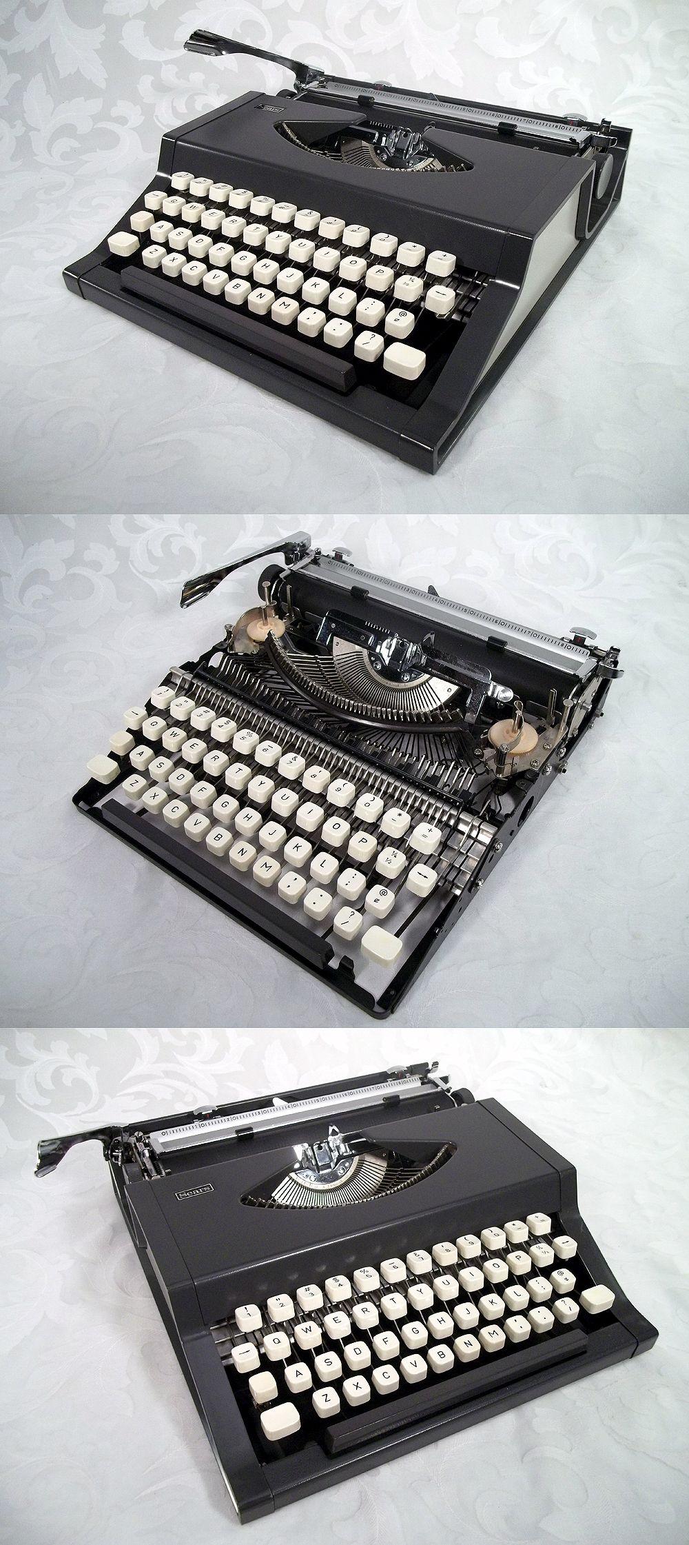 sold vtg 70 s sears manual typewriter model 161 52602 w case made rh pinterest co uk Owner S Manual Craftsman 917 Craftsman Snow Blower Parts Manuals