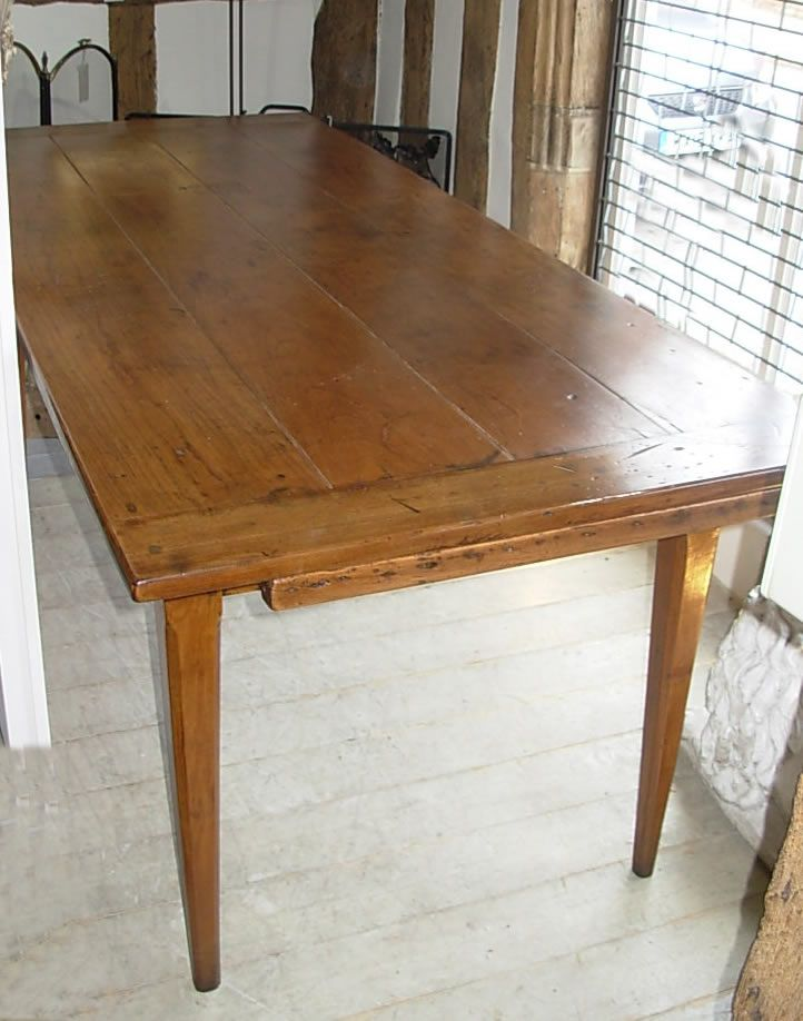 Antique French Fruitwood Dining Table Furniture Seating