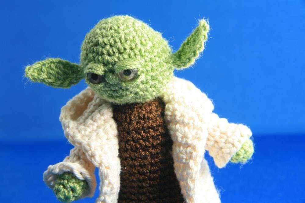 Encantador Patrón De Crochet Yoda Bosquejo - Manta de Tejer Patrón ...