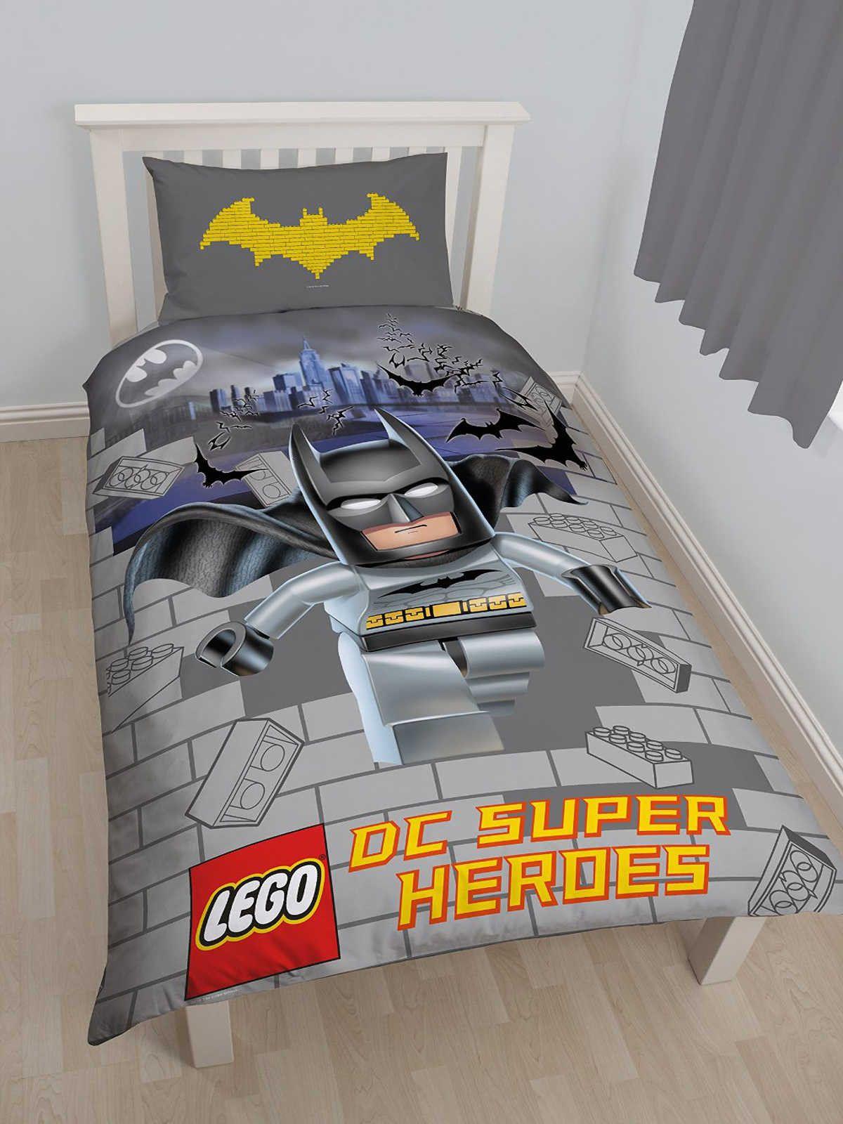 Lego Batman Superheroes Movie Kids Character Single Double Bedding Set Duvet