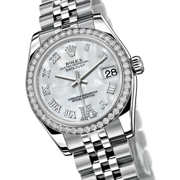 04085039313 Rolex - Oyster Perpetual Datejust - Lunette sertie de 46 diamants - 178384  watch