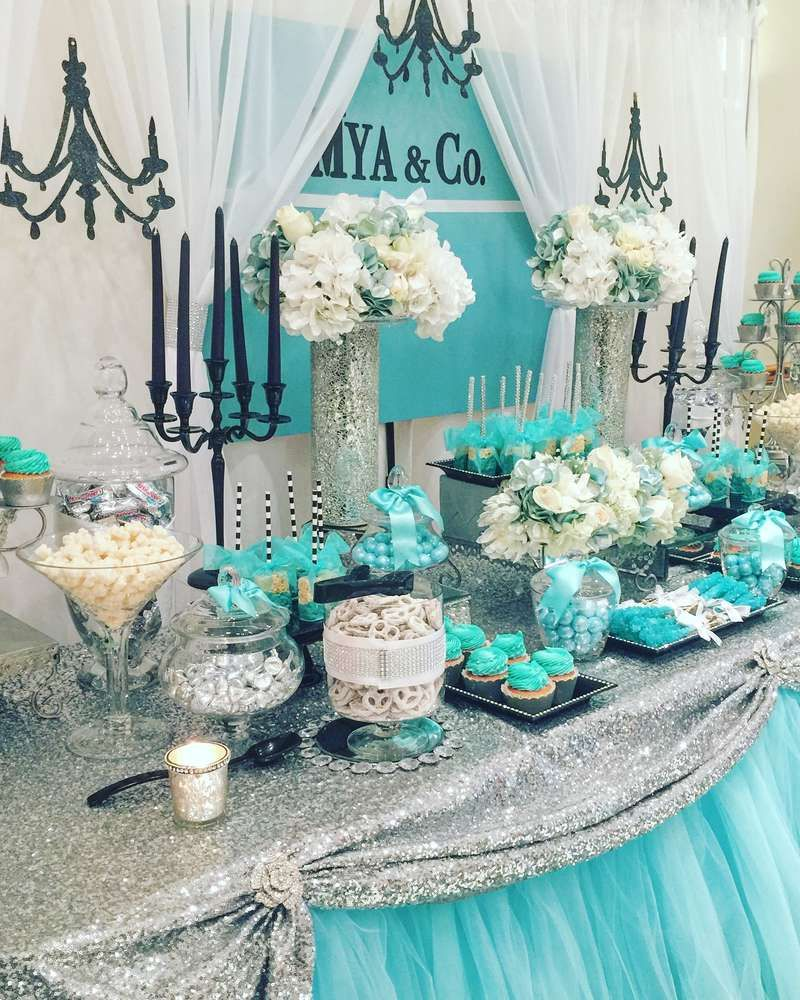 Tiffany Co Baby Shower Party Ideas Photo 1 Of 8 Catch