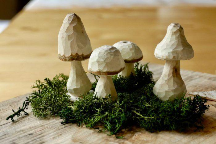 Pilze geschnitzt - Karin Urban - NaturalSTyle