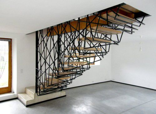 I love the wire, stairs are difficult to draw up it seems, but i love unusual ones.