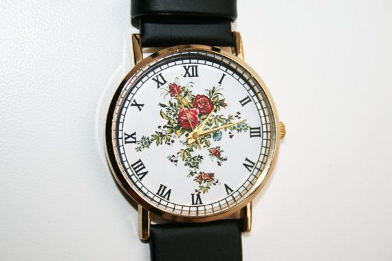 Design Watches Floral WatchLeather Watch Ladies Wrist Gold Birthday Gift