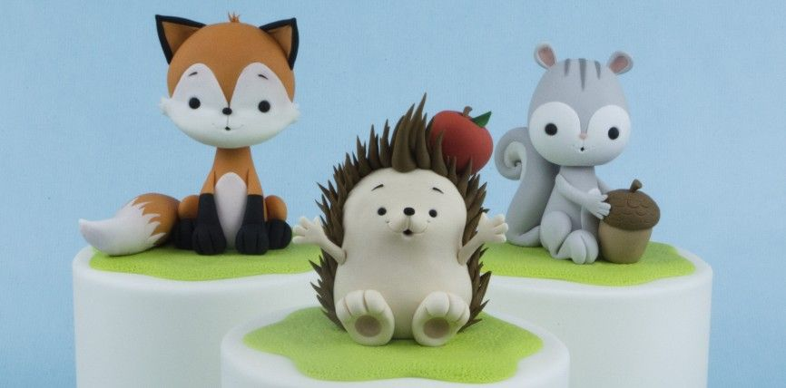 Cute Woodland Toppers Tutorial Cake Masters Magazine Animal Cake Topper Woodland Cake Topper Cake Topper Tutorial