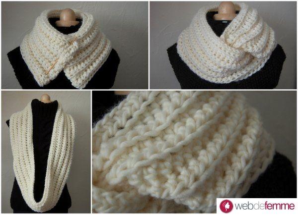 mod le snood en laine gratuit crochet inspirations tricot et crochet snood au crochet et. Black Bedroom Furniture Sets. Home Design Ideas