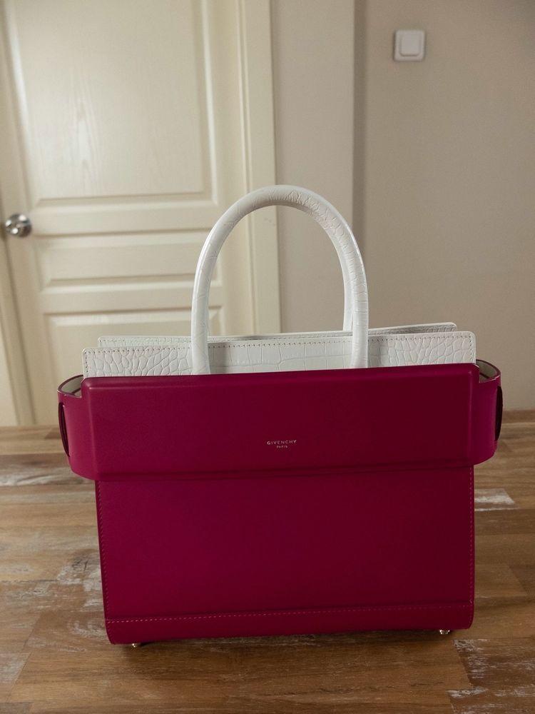 Givenchy Paris Horizon Small Fuchsia Leather Tote Handbag Authentic Nwt Ebay
