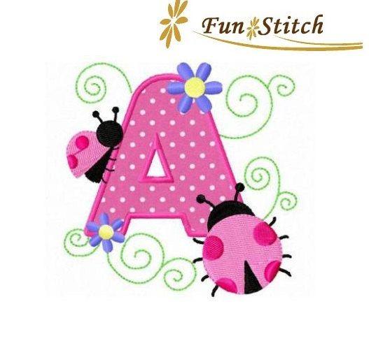 Set Of 26 Owl Applique Font Letters Machine Embroidery Design