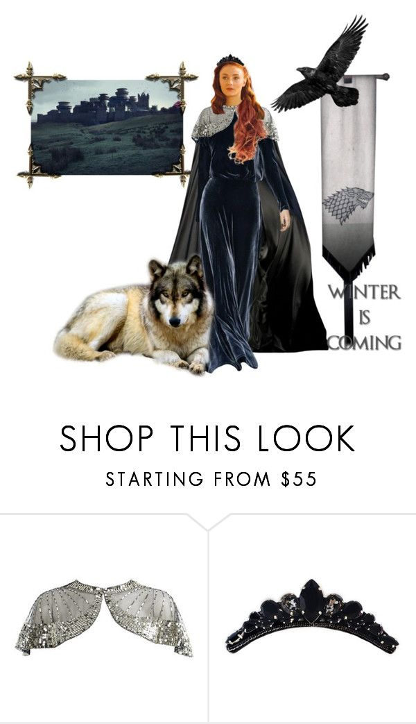 """""""The Queen in the North - Sansa Stark"""" by ladymachiavelli ❤ liked on Polyvore featuring L'Wren Scott, Tadashi Shoji and Monsoon"""