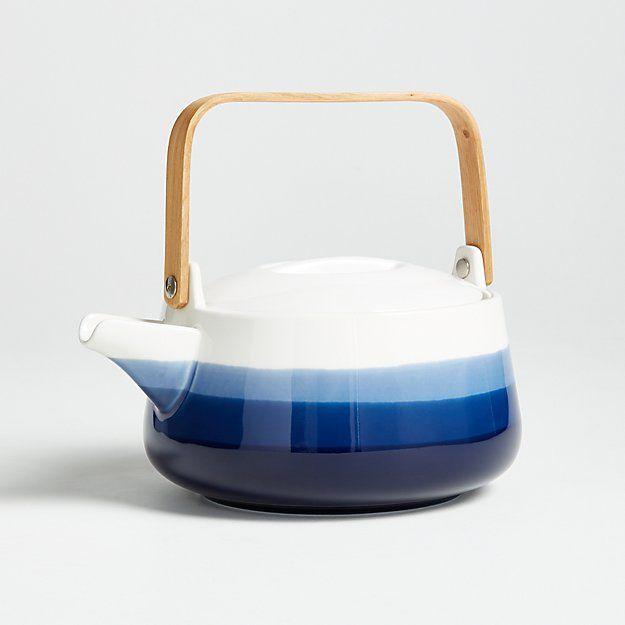 Nari Ceramic Teapot with Wood Handle - Image 1 of 2