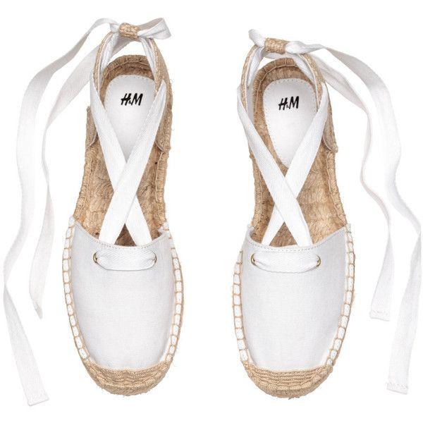 Lace up espadrille sandals, Lace up