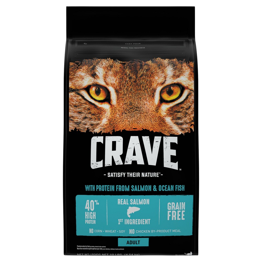 Crave Salmon Oceanfish Dry Cat Food 10lb Products Dry Cat Food Food Cat Food