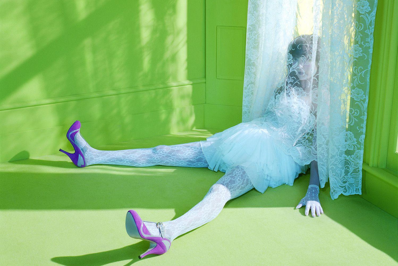 Vogue Italy  May 2009. Model - Irina Lazareanu.  Photographed by Miles Aldridge. Editorial - Dreamy #1