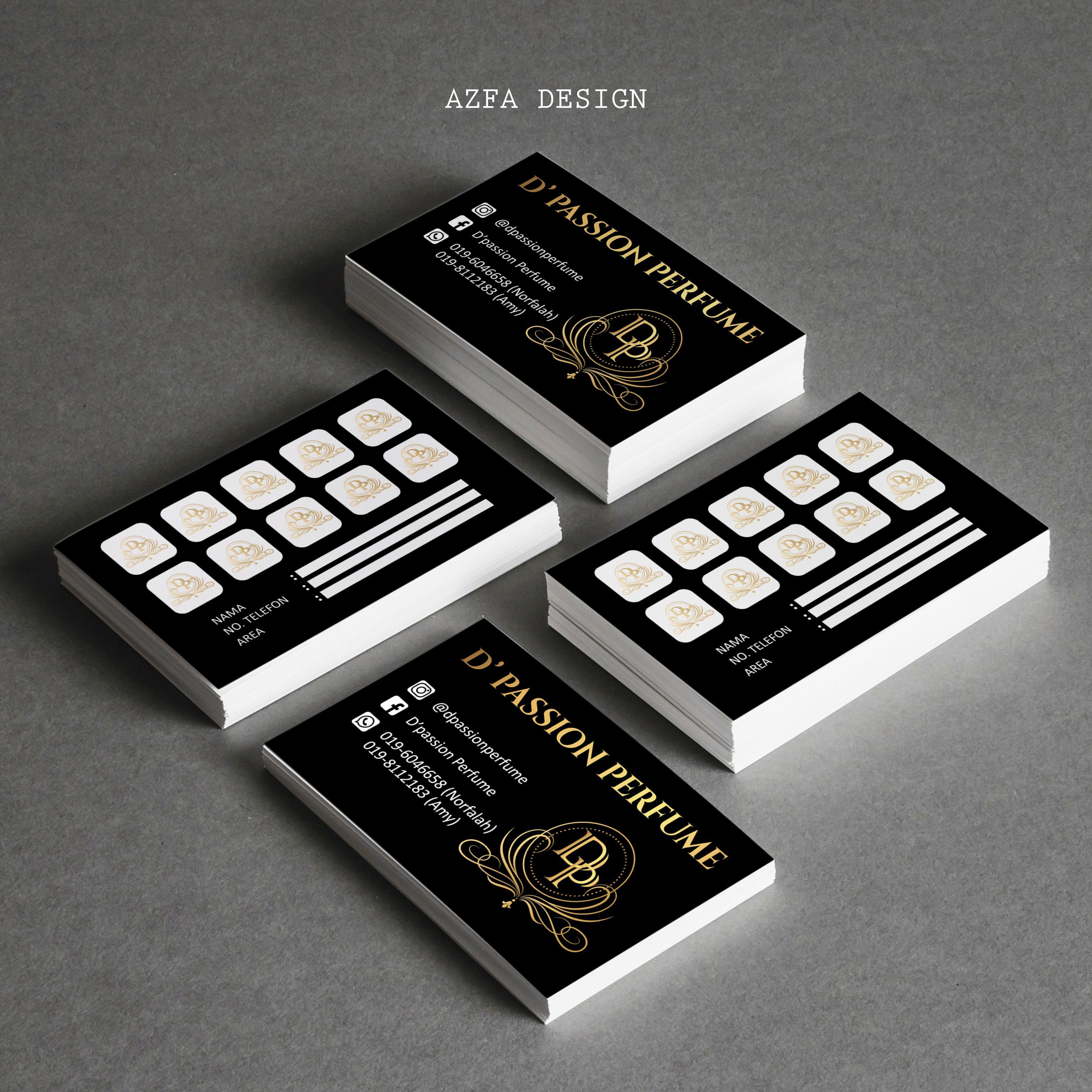 Azfadesign Bisneskaddesign Ha Belum Ada Lagi Bisnes Kad Kenapa Perlu Ada Eh Wajib Ada Ke Segala Pers Passion Perfume Perfume Business Cards