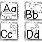Zoo Animal Phonics Word Wall Labels, Flashcards