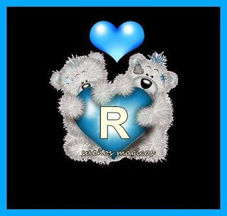 Alfabeto de Me to You Bears con corazón azul. | Oh my Alfabetos!