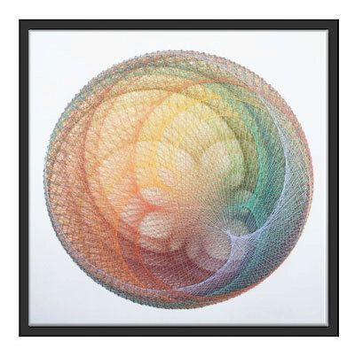 Color ball, string art, mandala, wall art, meditation, colorful ...