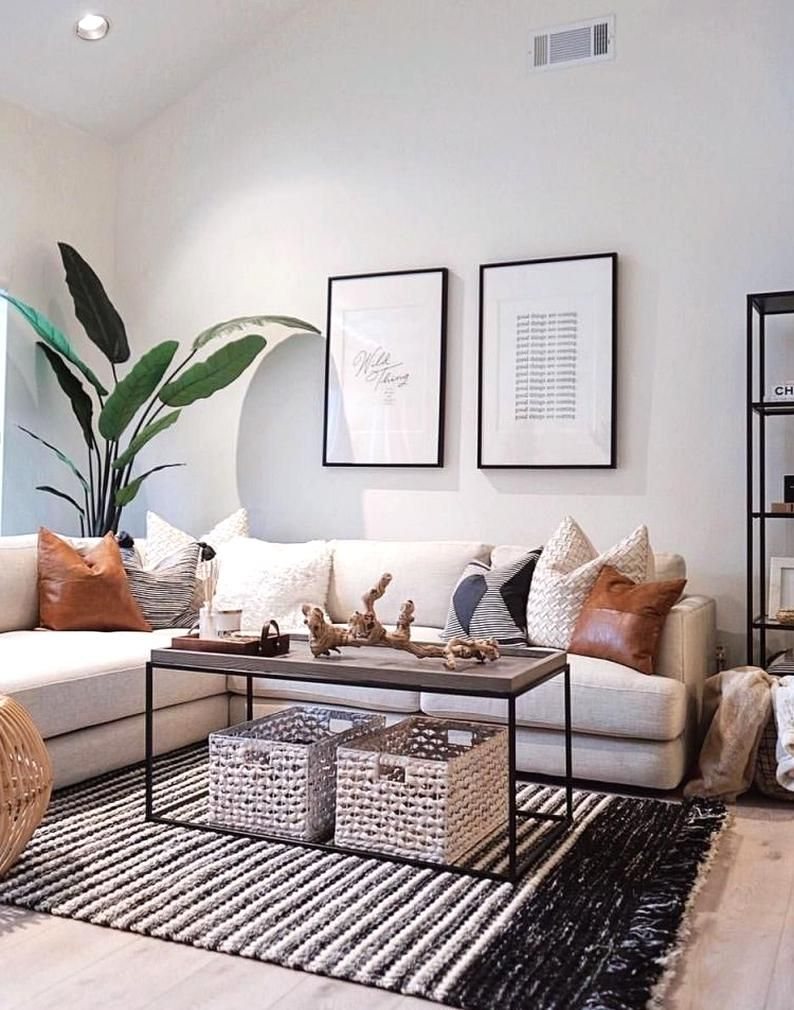 living room mirror decor #wayfair living room set #living room
