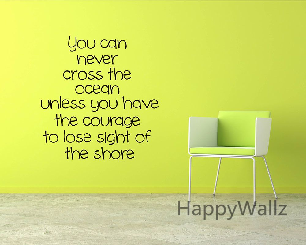Courage Motivational Quote Wall Sticker DIY Decorative Courage ...