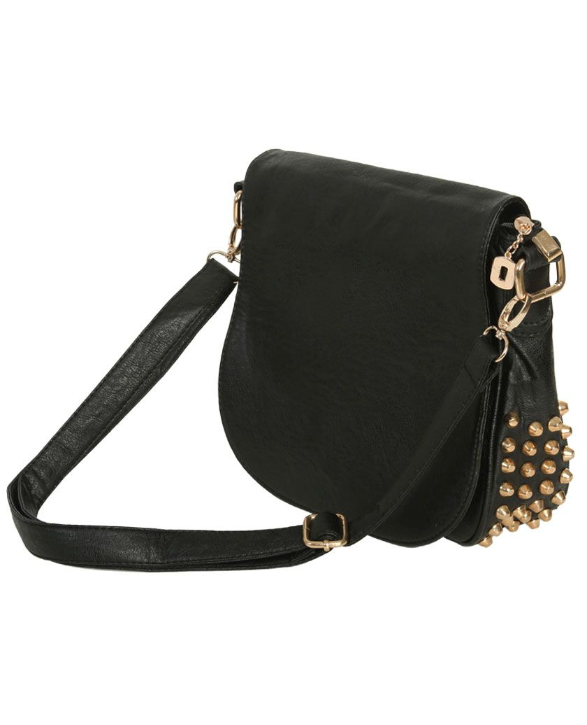 Black Gold Crossbody Bag | Wet Seal