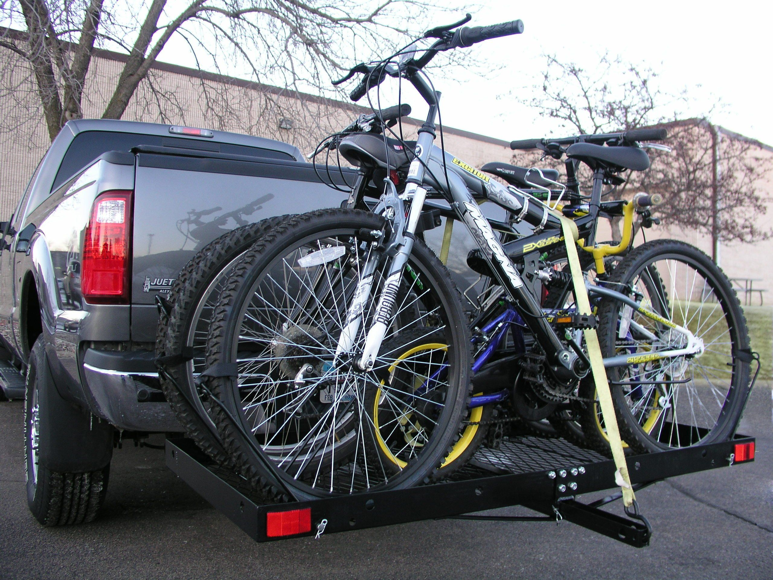 Tow Tuff Ttf2762kr Steel Cargo Carrier With Bike Rack Check This Awesome Product By Going To The Link At The Image It Cargo Carrier 4 Bike Rack Bike Rack