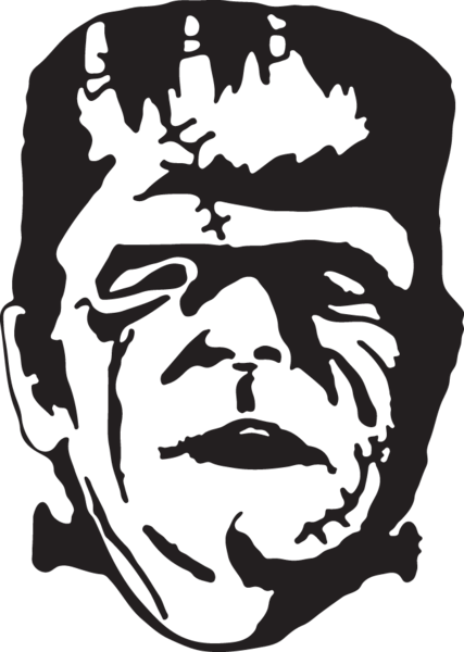 270ga Frankenstein Silhouette Clip Art Frankenstein Vector Clipart
