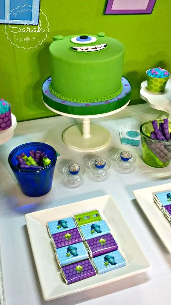 What a cool Monsters Inc. birthday party! See more party ideas at CatchMyParty.com!