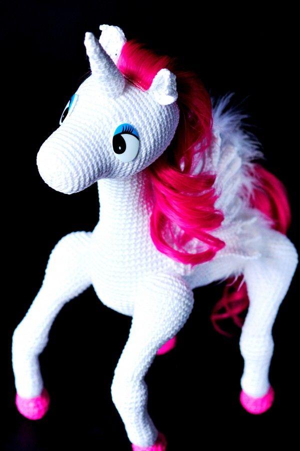 Einhorn - Pony Häkelanleitung   AMIGURUMI Tiere   Pinterest ...