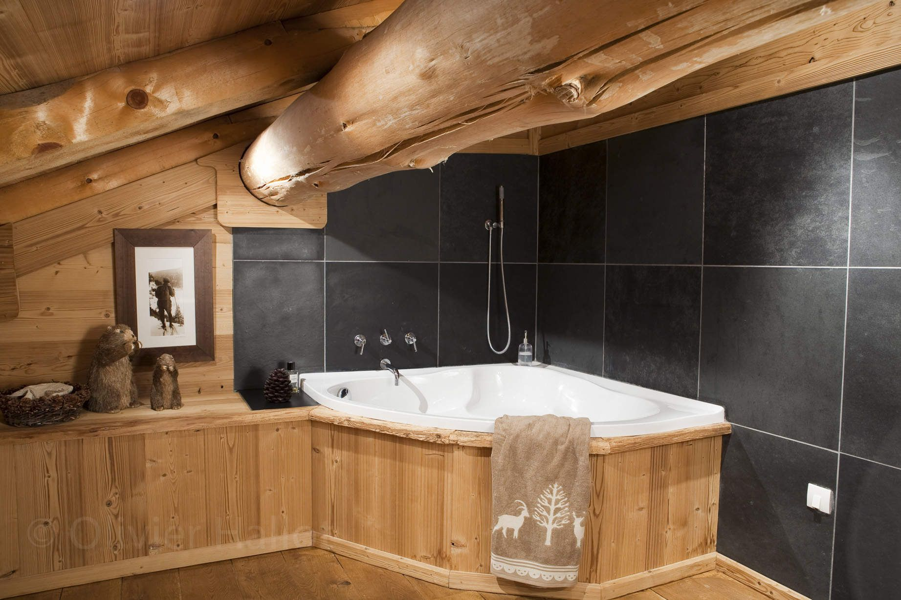 chalet les pins salle de bains badezimmer pinterest chalet salle und salle de bain. Black Bedroom Furniture Sets. Home Design Ideas