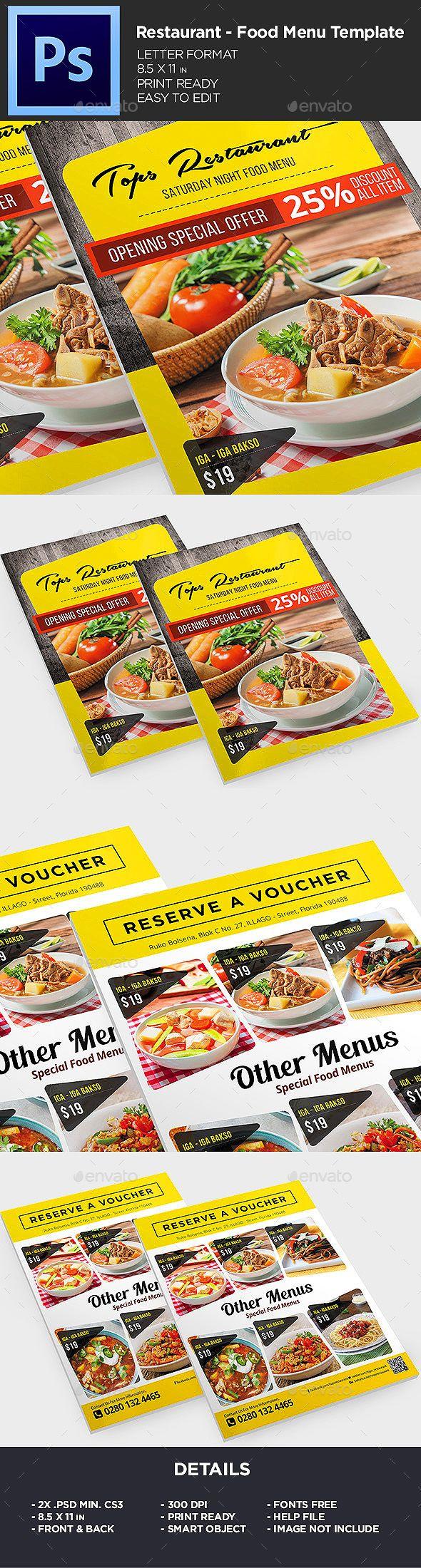 Menu - Food Menu Flyer