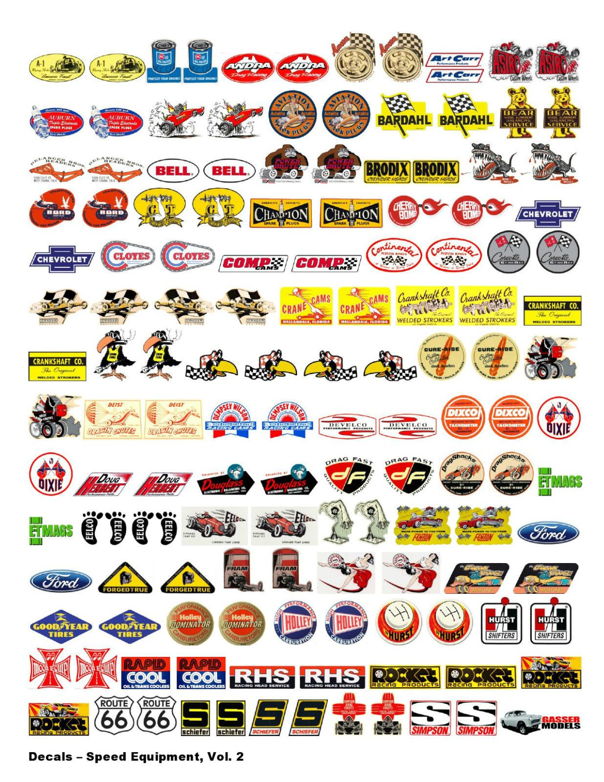 Nostalgic Decals Speed Equipment Volume 2 1 18 Scale Decal Sheets Car Decals Diecast Model Cars [ 1600 x 1236 Pixel ]
