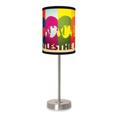 Lamp-In-A-Box Beatles Faces Table Lamp with Brushed Nickel Base ...