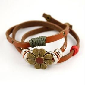 """""""FREE SHIP"""" Retro Flower Buckle Ethnic Style Leather Fashion Bracelet 6098   Just purchased this!!!! LOVE"""