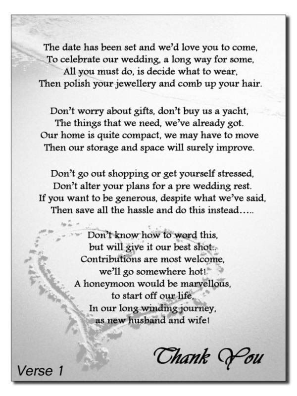 An Ode To The Gift List Wedding Poemwedding