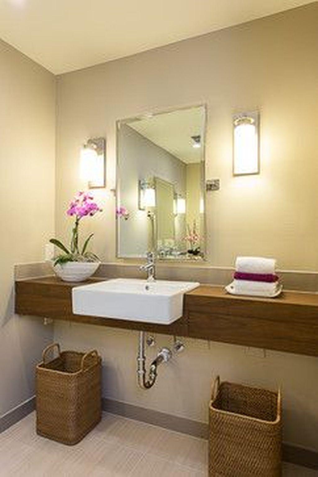 Cozy Small Office Bathroom Designs Ideas08 | Accessible ...