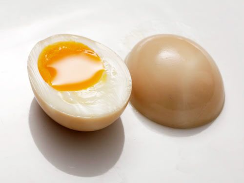 One of my favorite. Marinated soft boiled eggs in soy sauce and mirin.
