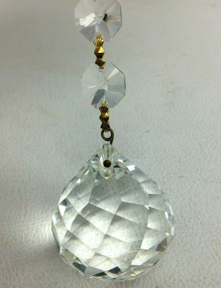 CHANDELIER CRYSTAL BALL MULTI FACETED 40mm BALL & 14mm ...