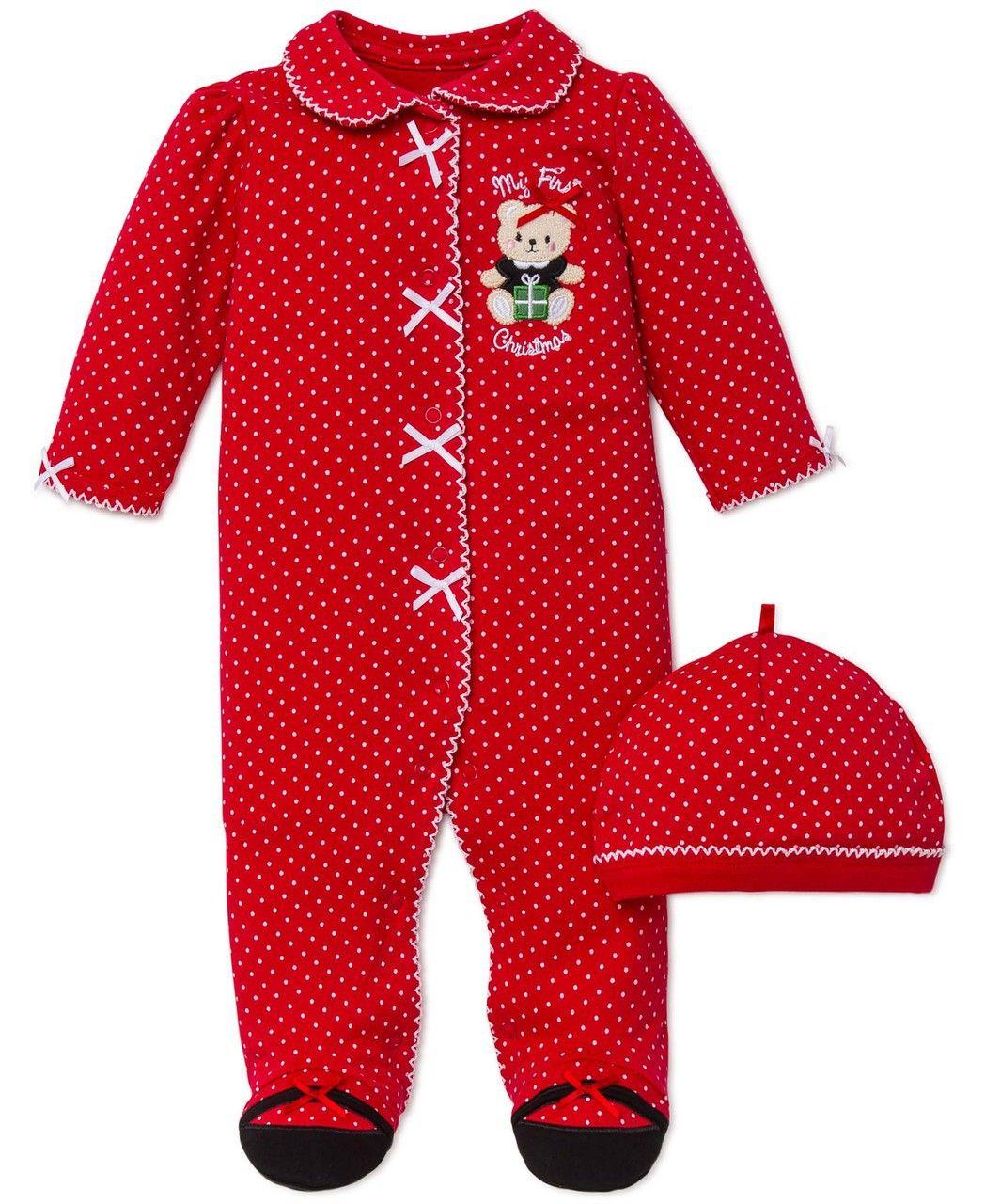 christmas clothing children maison de montaigu baby girl christmas pajamas my first christmas